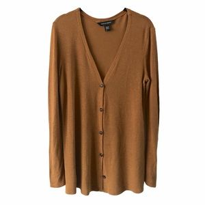 American Apparel Knit Brown Cardigan Sweater small